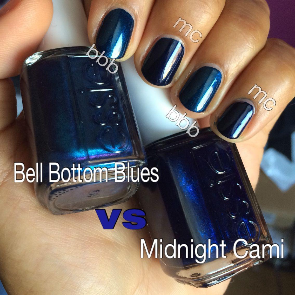 Essie Bell Bottom Blues vs Essie Midnight Cami | My Dupe Tests ...