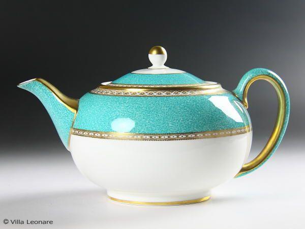Rakuten - [Wedgwood] Yu Lander turquoise teapot