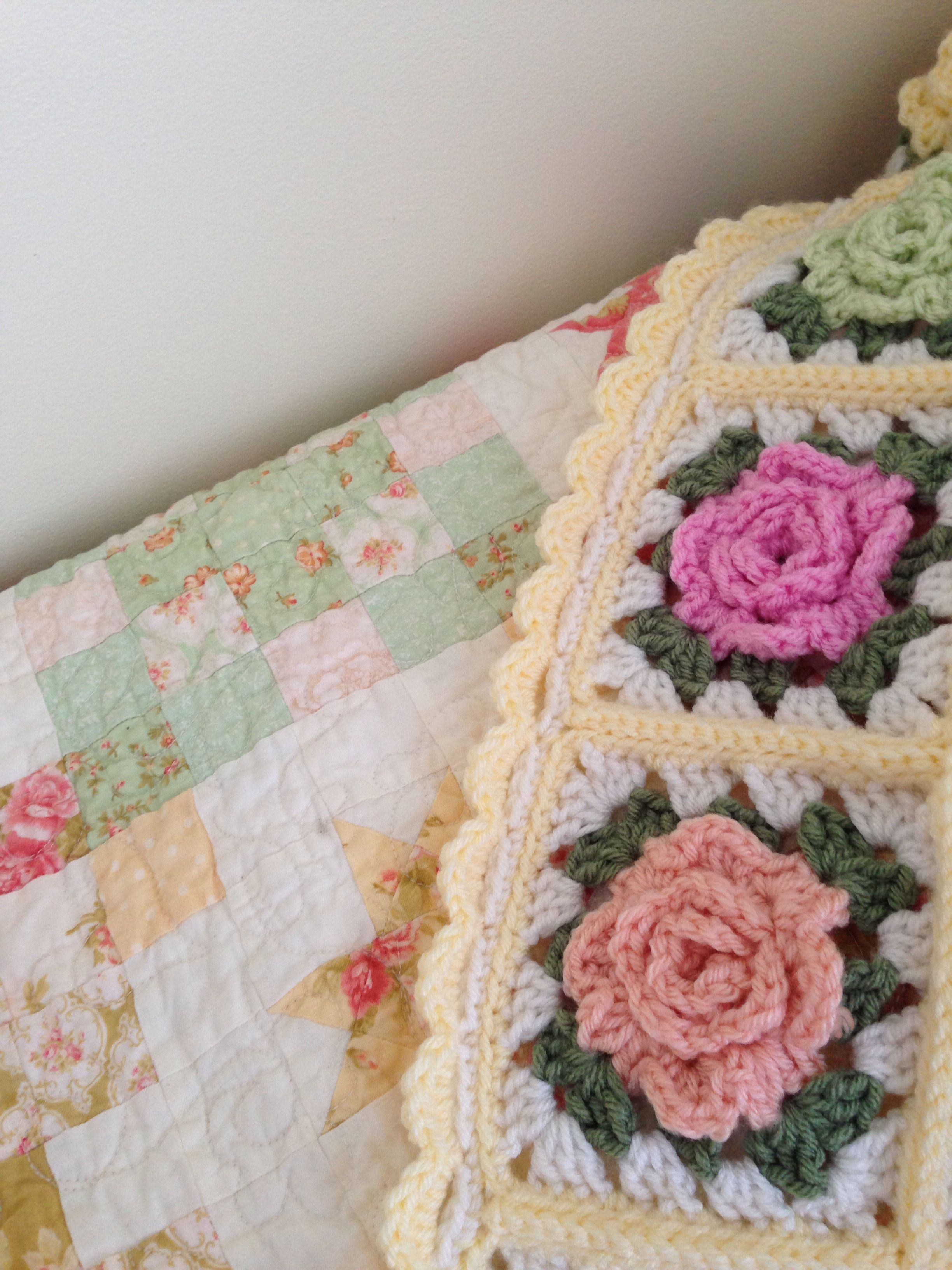 The border on my granny rose afghan   I finally know how to crochet ...