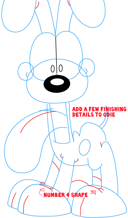 How to Draw Odie from The Garfield Show with Easy Step by Step ...
