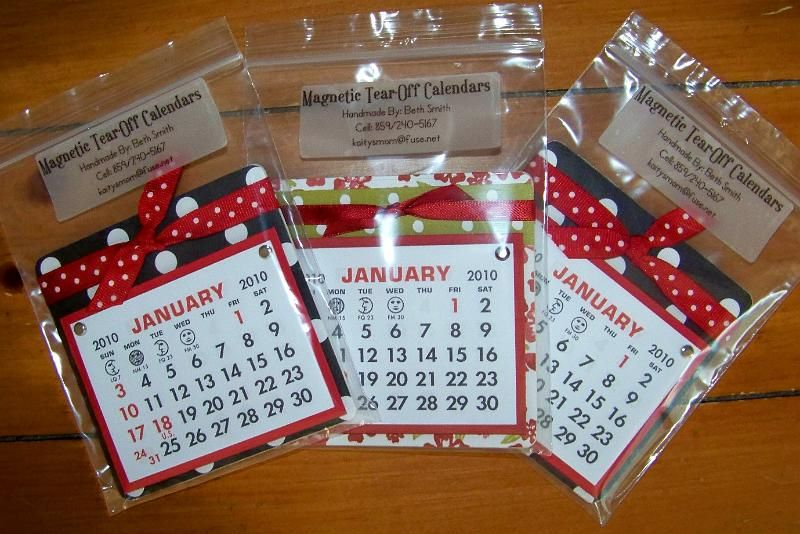 Wrap A Coaster In Fabric - Stick Magnet To Back And Small Calendar