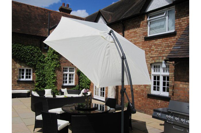 Prince 300Cm Cream Freestanding Parasol | Sun Loungers, Canopies