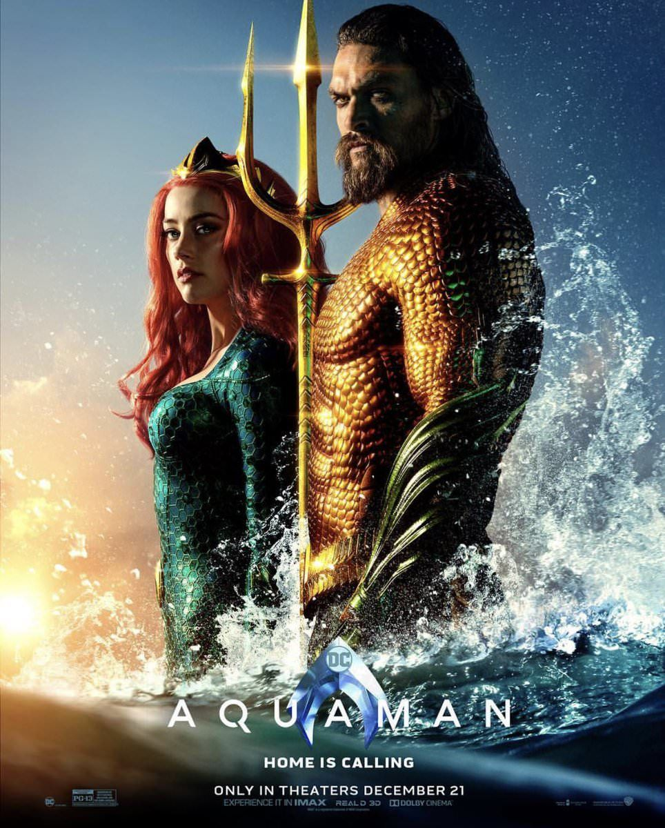 Aquaman And Mera Stand Tall In New Poster For Aquaman Filme
