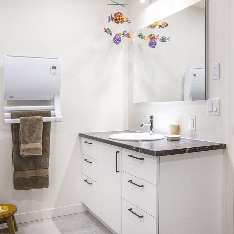 Cuisines beauregard vanit de salle de bain en m lamine Stratifie pour salle de bain