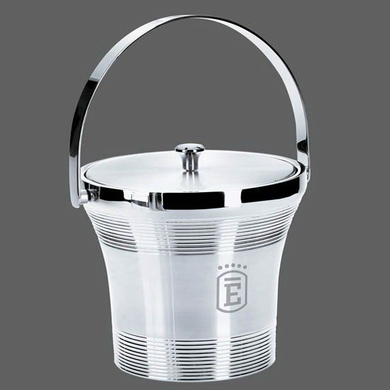 """When the event heats up, keep it cool with this convenient Rockport ice bucket and lid. Constructed out of stainless steel, this holder stands 7 1/2"""" high and features a tapered shape with a ribbed design. Perfect for use at cocktail parties and weddings. A great way to promote bars, restaurants, and resorts. This product may be laser engraved with your company name and logo for a lasting impression your customers won't forget. Priced per piece."""