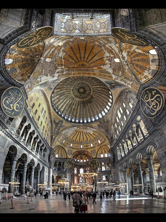Photograph Under The Dome Of Hagia Sophia By Erhan Sasmaz On 500px