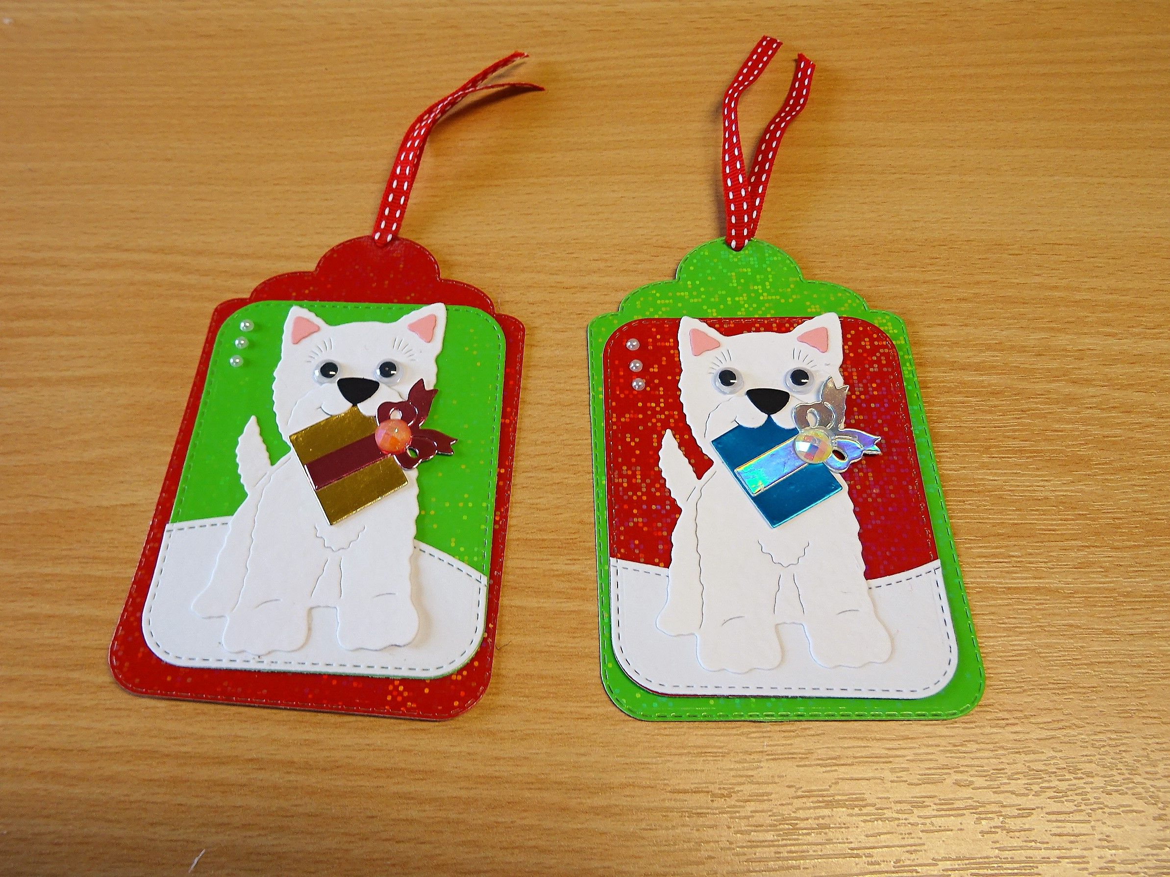 Christmas Gift Tags, Handmade - Cottage Cutz dog die. For more of ...