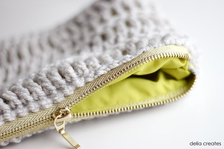 treble bolsa de crochê zip (30 de 50)