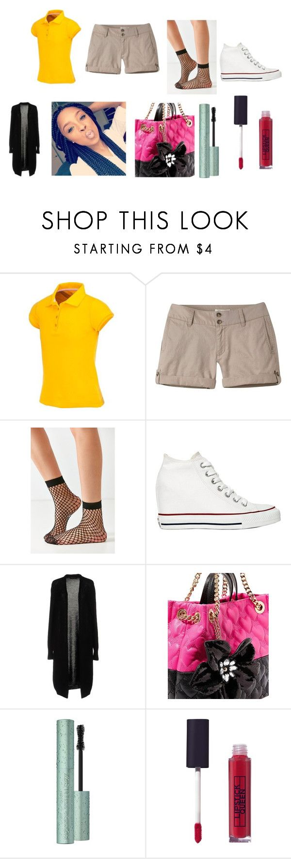 """Untitled #138"" by lalashotspot on Polyvore featuring Mountain Khakis, Out From Under, Converse, Fabrizio Del Carlo, Betsey Johnson and Lipstick Queen"