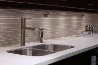 glass subway backsplash Light Gray 3x6 Glass Subway Tile Kitchen