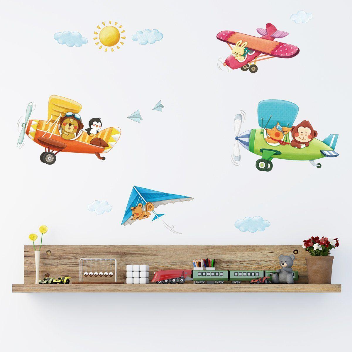 Pilotenzimmer Tolle Wandgestaltung für das Kinderzimmer