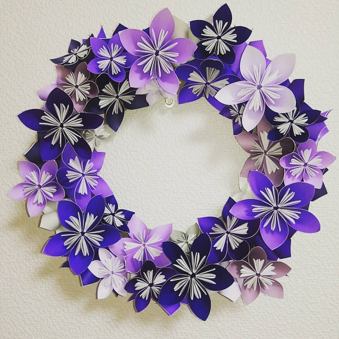 purplemauve      paperflowers papercraft flowers  odd_eye