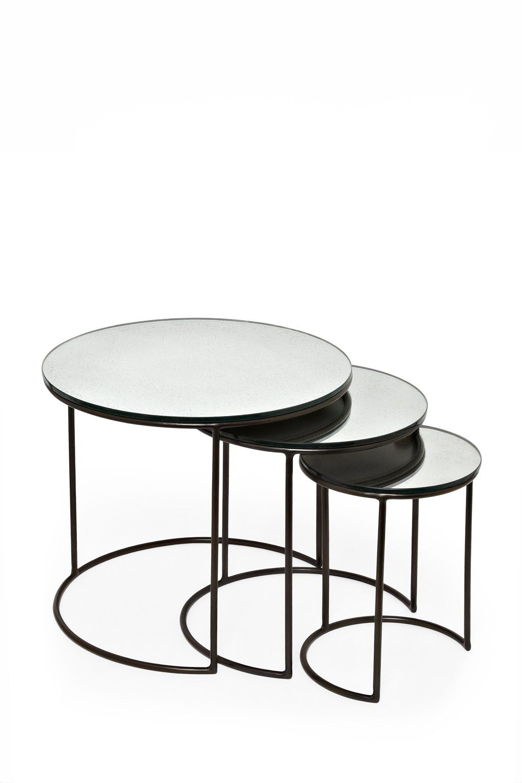 Mercurised Nest of Tables | Tables, Nest and Round table top