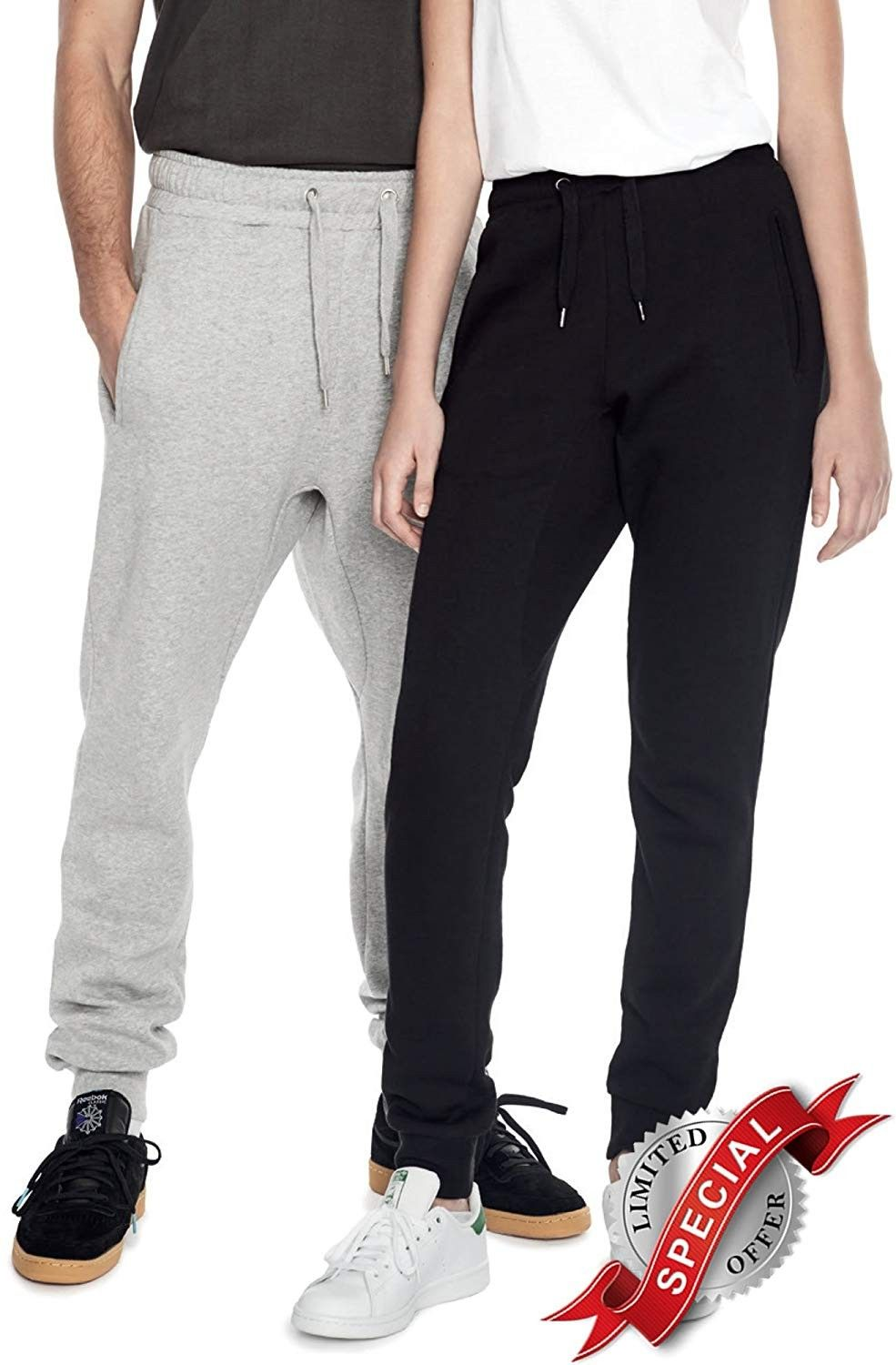 Yoga Joggers Sweatpants & Hoodie 2 Piece Set for Men with
