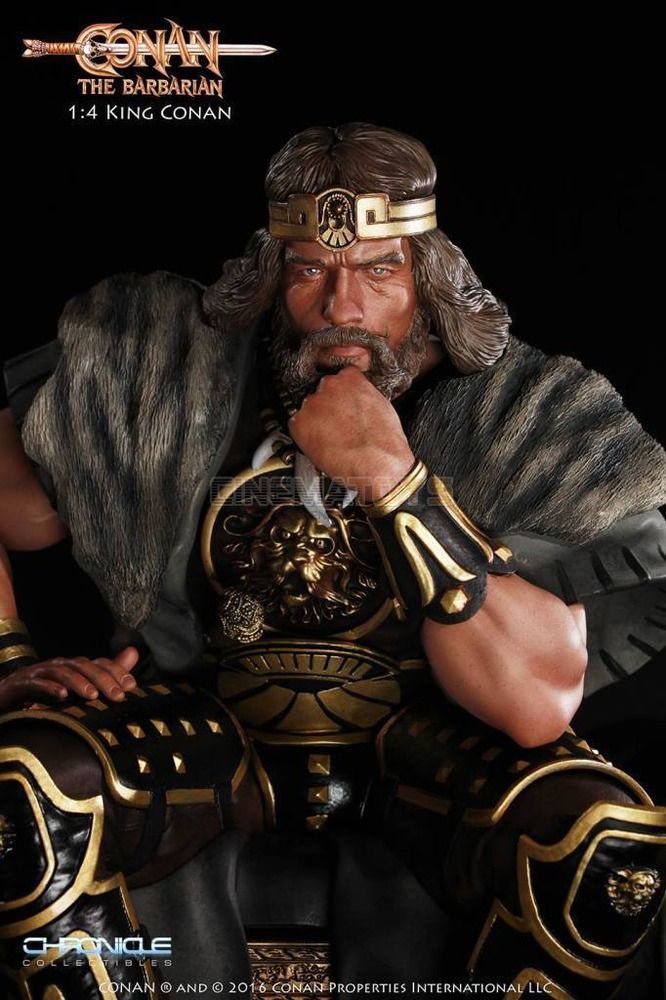 Dettagli su King CONAN The Barbarian on Throne Arnold