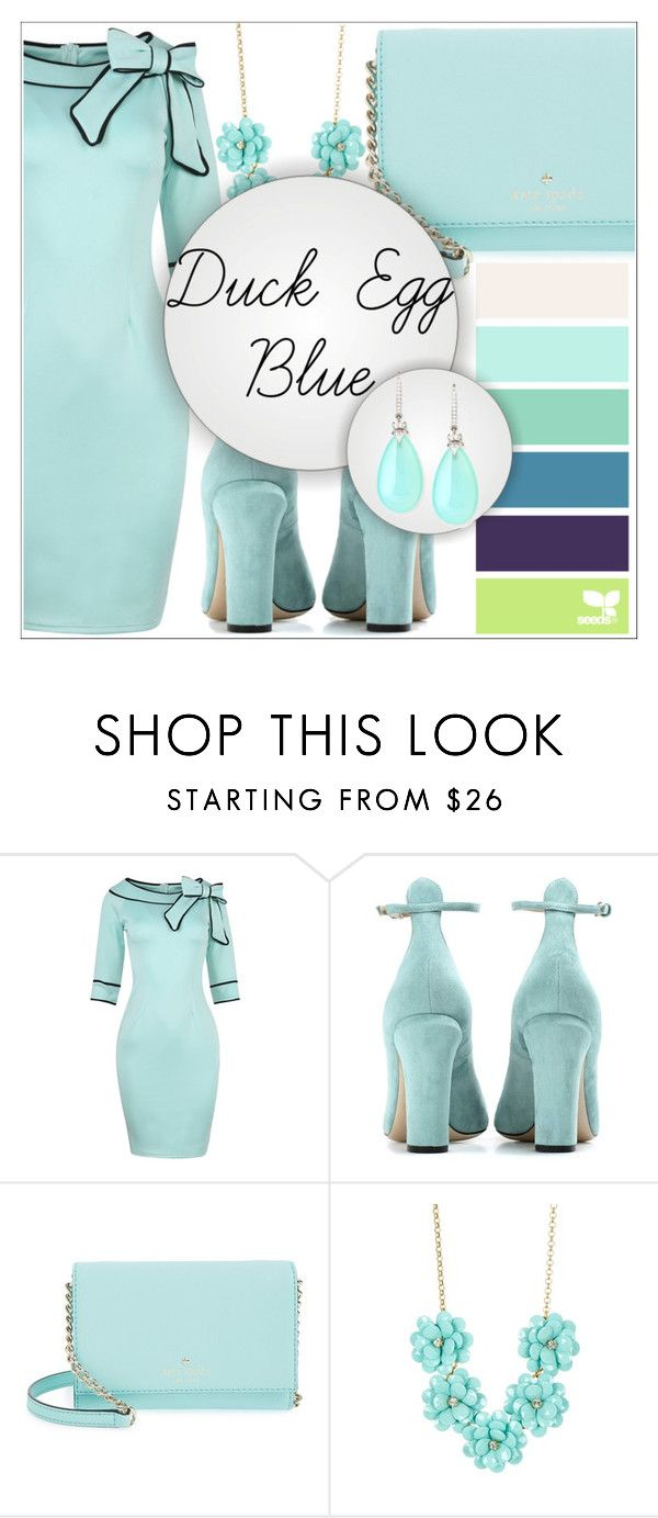 """Duck Egg Blue Look"" by kimbo20111 ❤ liked on Polyvore featuring Valentino, Kate Spade, J.Crew and Rina Limor"