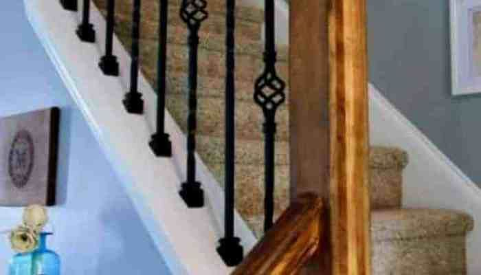 Best How To Replace Wooden Balusters With Iron The Easy And Cheap Way Wood Balusters Stair 640 x 480
