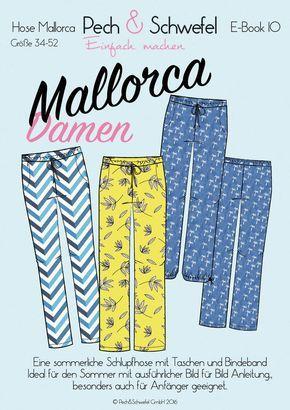 Ebook Schnittmuster – Damenhose Mallorca – die sommerliche Schlupfhose Gr. 34 - 52 - Nähanleitungen bei Makerist