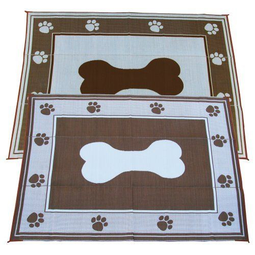 Fireside Patio Mats Doggy Chocolate 9 Ft X 12 Polypropylene Indoor Outdoor Reversible Rv Mat By 53 99