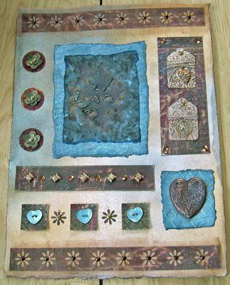 Paper quilt inspired by Beryl Taylor - Adrienne's Art Garden