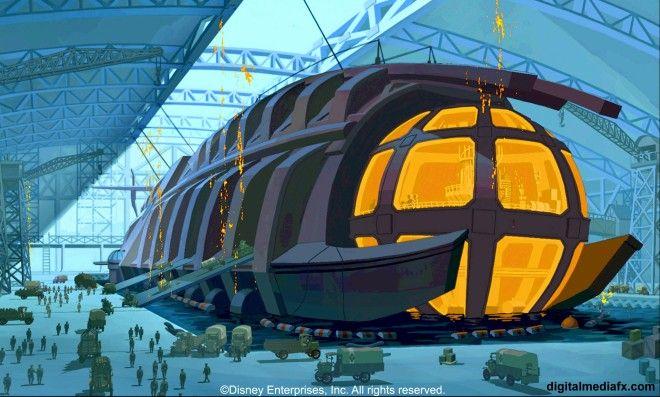 "Film Review: ""Atlantis: The Lost Empire"" (2001)   Atlantis the lost empire,  Empire movie, Steampunk movies"