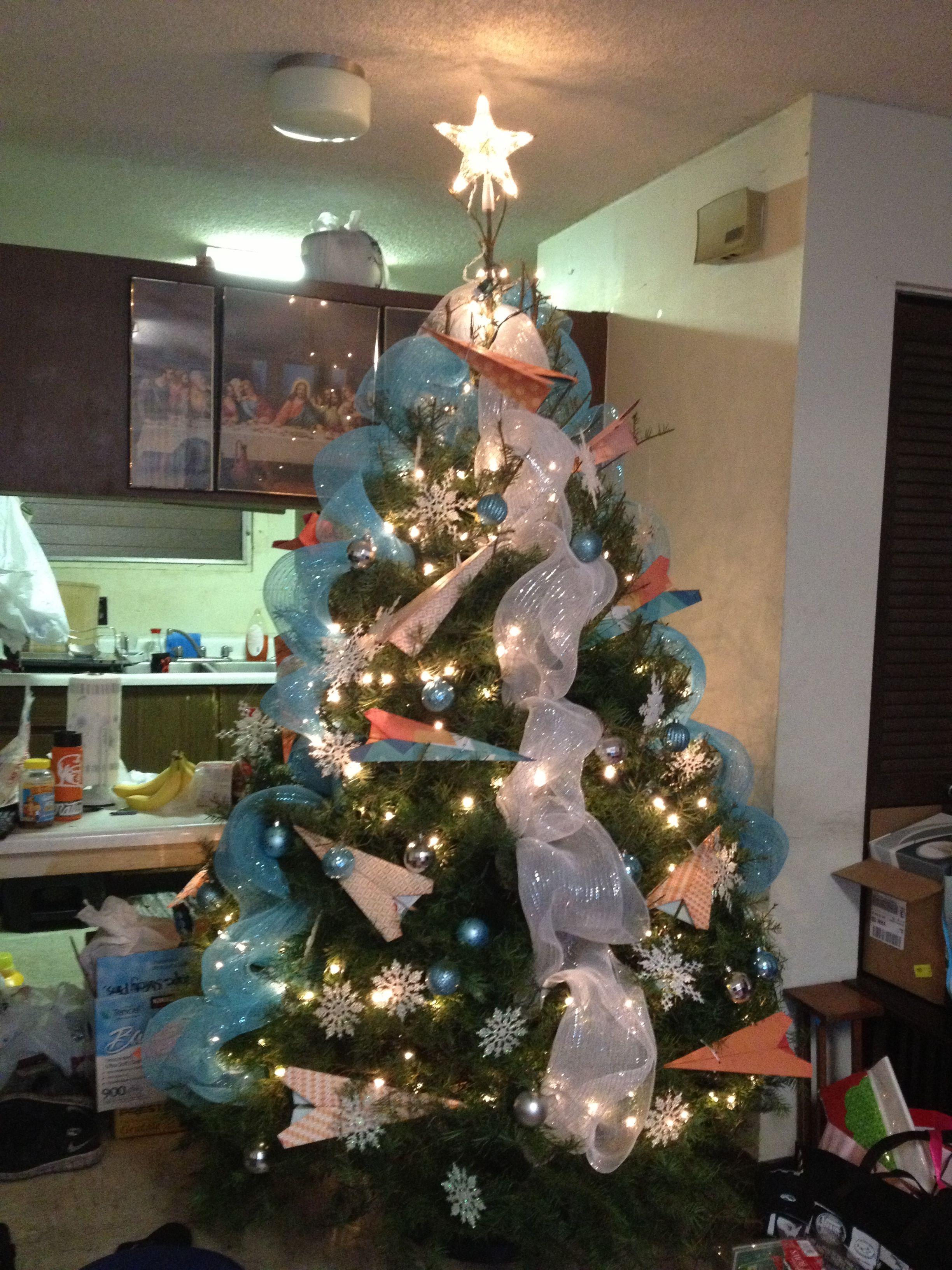Paper Plane Christmas Tree Christmas Tree Travel Tree Christmas
