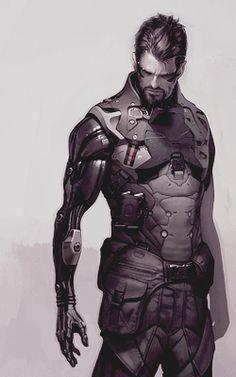 Sci Fi Cyberpunk Character Concept Art