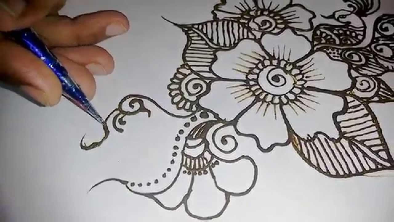 mehndi design for hands beautiful easy-simple henna design easy -Matroj Mehndi Designs - YouTube