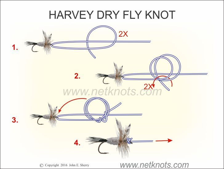 Harvey dry fly knot knots pinterest fish fly for Best fishing hook knot