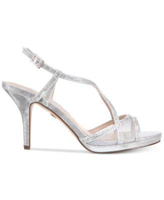blossom strappy embellished evening sandals  white bridal