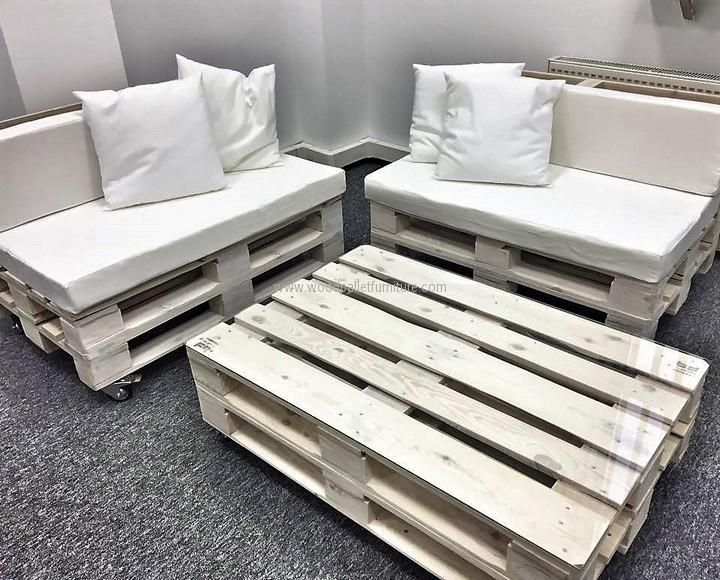 Office Furniture Made with Pallets | Alexander | Pinterest | Decoración