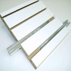 Holland Panel Products 3 4 In D X 4 Ft W X 8 Ft H Painted Mdf Slat