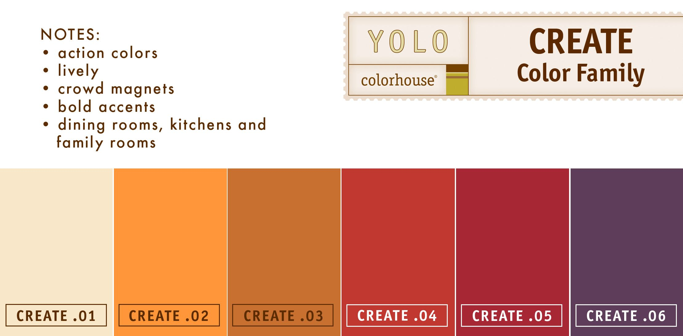 YOLO Colorhouse CREATE color family | Paint It | Pinterest | Yolo ...