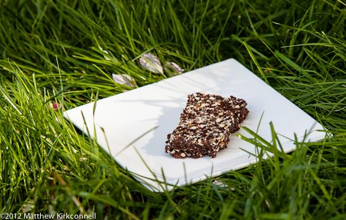 Chocolate Chia Bars from trailcooking.com.   9/14/12:  Made these and they are YUMMY (and FAST and EASY). Not too sweet, but fudgy. Davis wouldn't even taste them though.