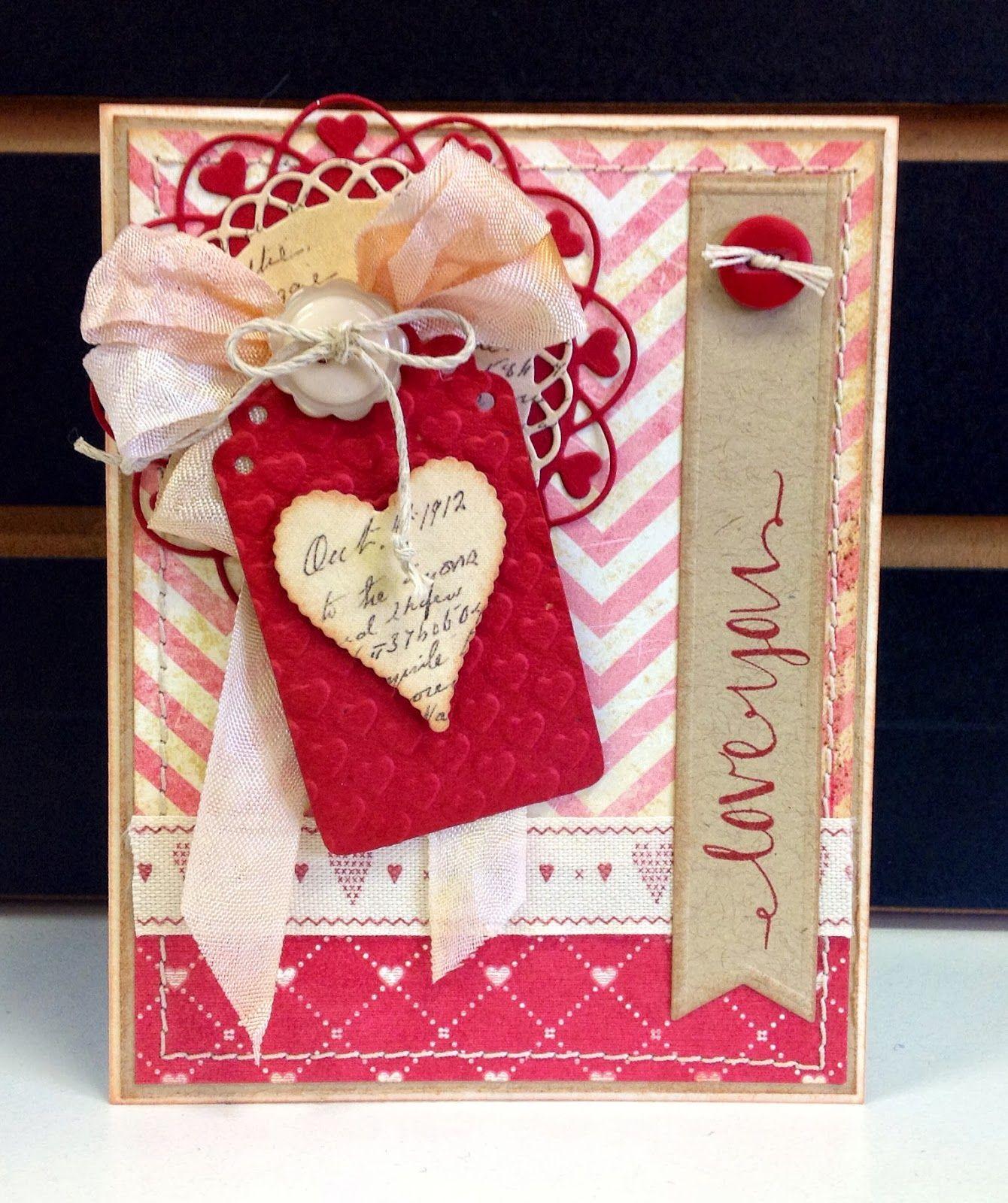 Скрапбукинг открытки в день святого валентина