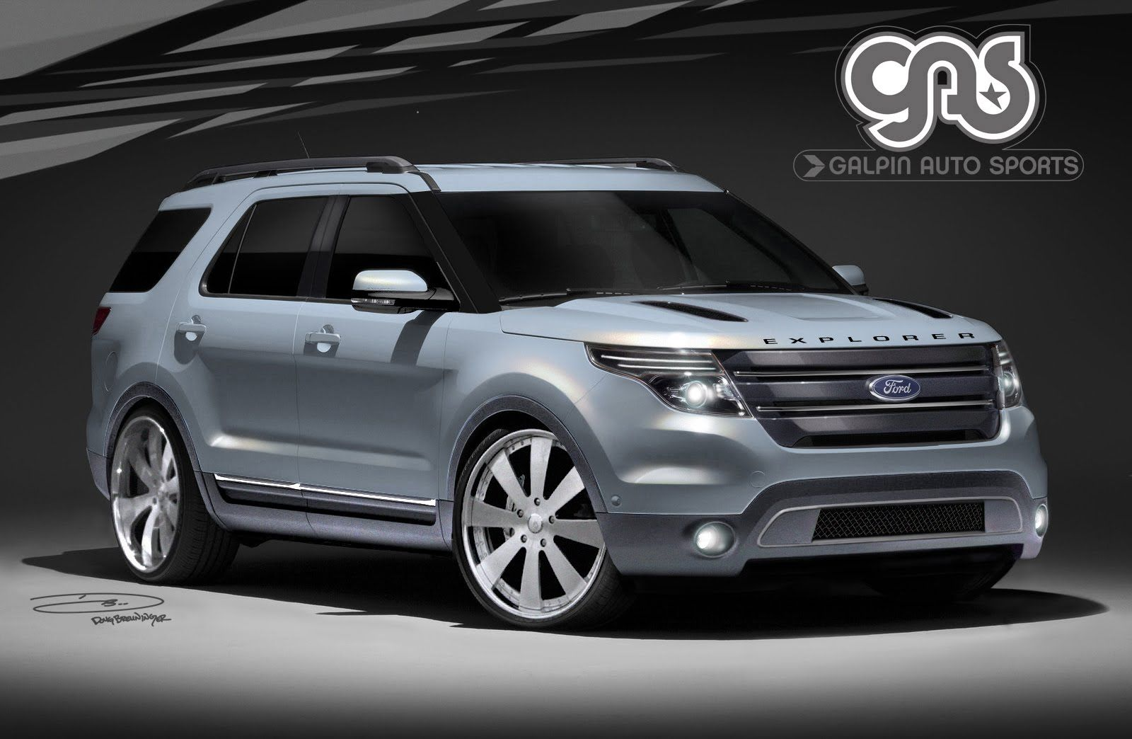 """2014 ford explorer 24"""" rims 2011 ford explorer by galpin"""