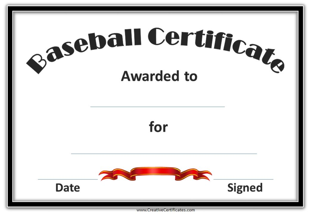 blank template certificate with black border and red ribbon ...