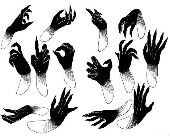 Demon hands Poster