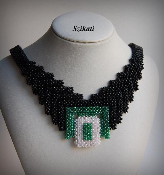 Photo of Mehrfarbige Armreif BIB Halskette, Original Perlen, RAW, Perlenkunst, Perlen High Fashion Schmuck, Damen Accessoire, Jubiläumsgeschenk, OOAK