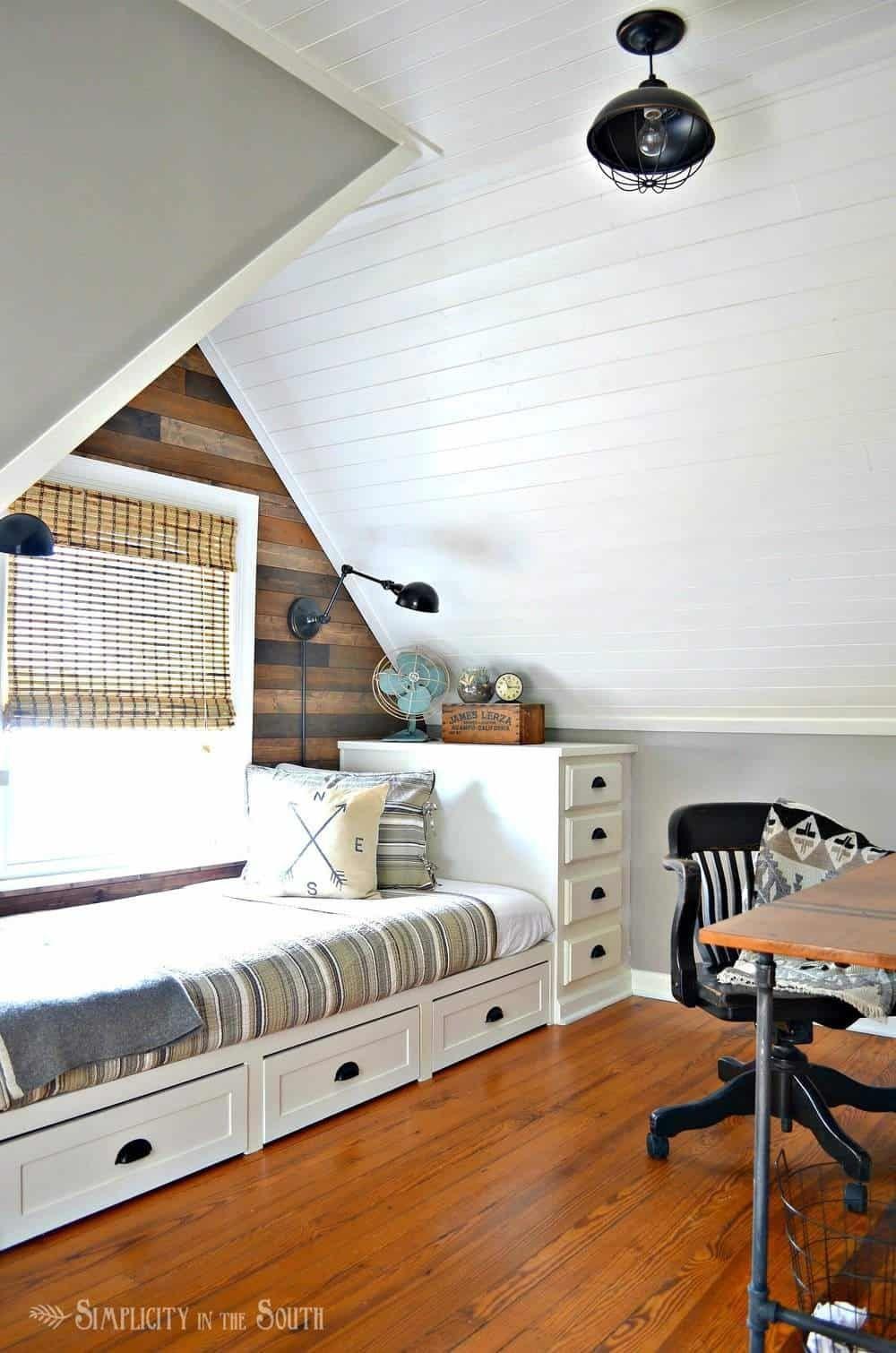 Rustic & Industrial Dormer Bedroom Reveal | Dormer bedroom ...