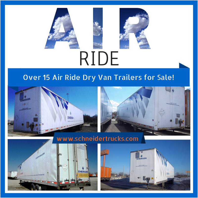 We have over 15 air ride dry van trailers for sale right
