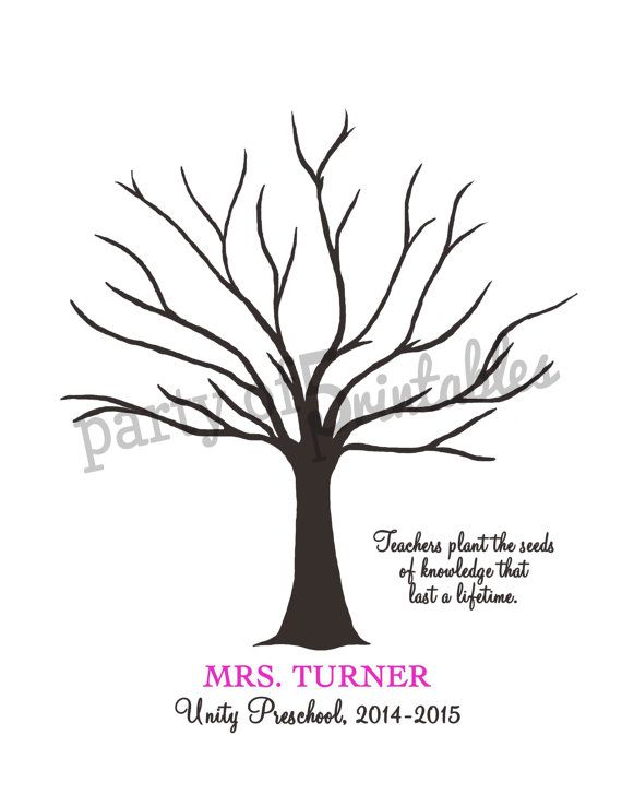 Teachers Gift Fingerprint Tree Teachers Plant Seeds Quote
