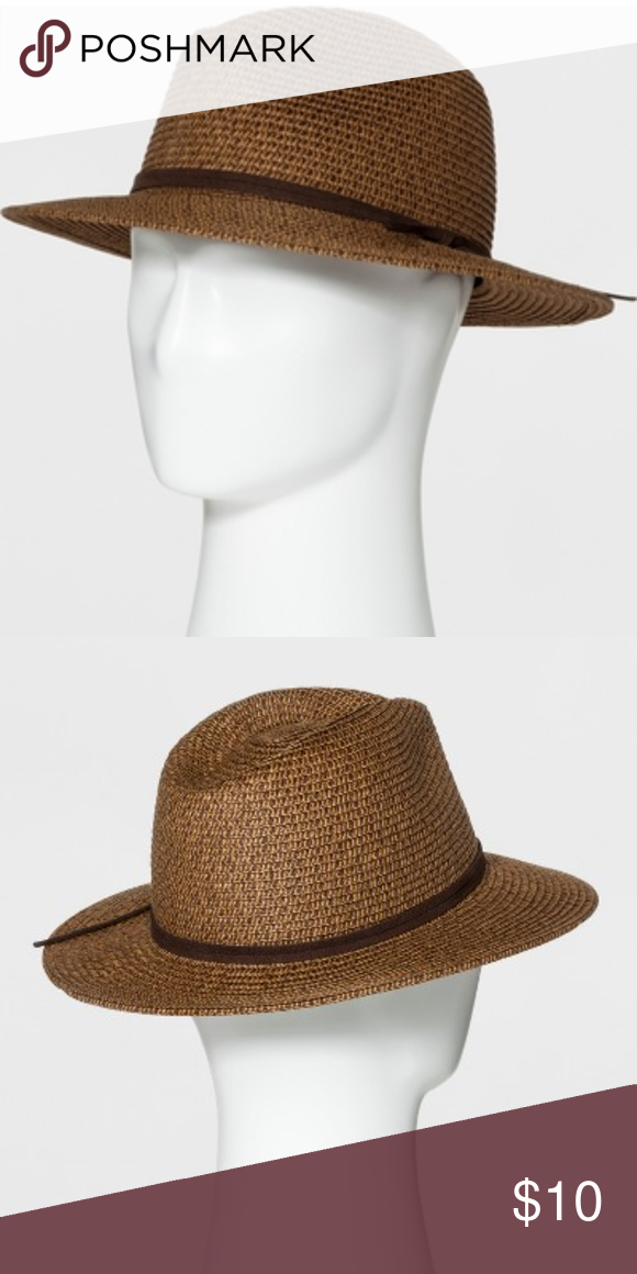 b3140a63613a Men's Rolled Straw Wide Brim Fedora Brown New with tags The straw hat is  breathable to keep your head from getting too warm and it also is great for  on the ...