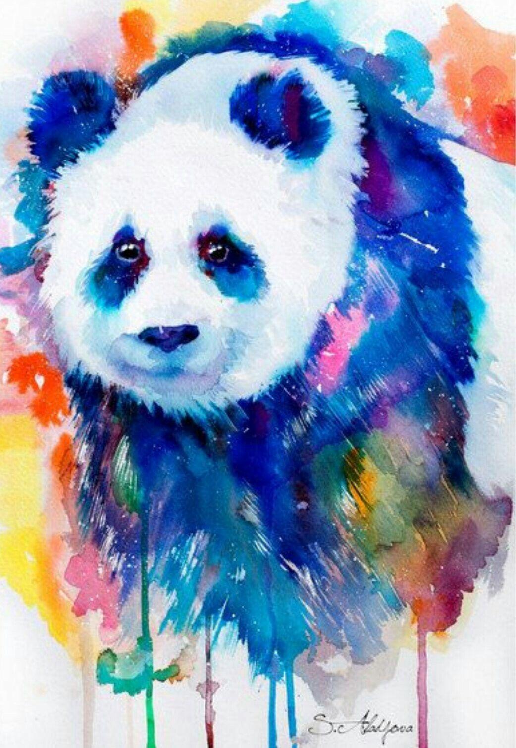 Watercolor Panda Panda Art Animal Art Animal Paintings