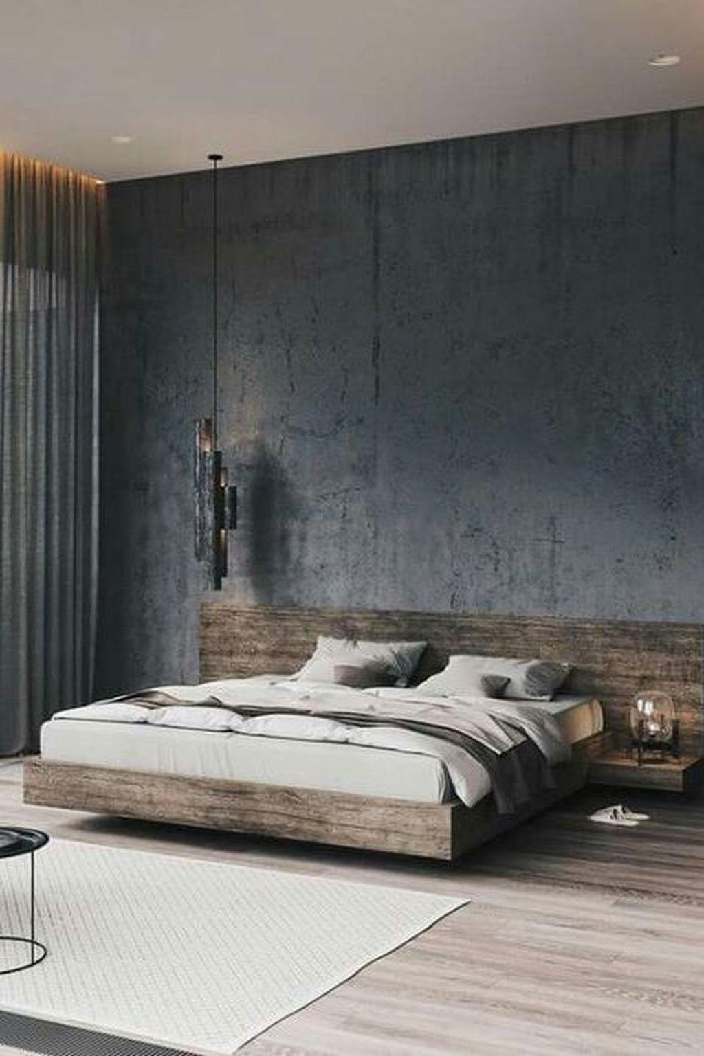 38 Best Master Bedroom Design Trends Ideas That You Need To Know Industrial Bedroom Design Modern Bedroom Design Grey Bed Frame