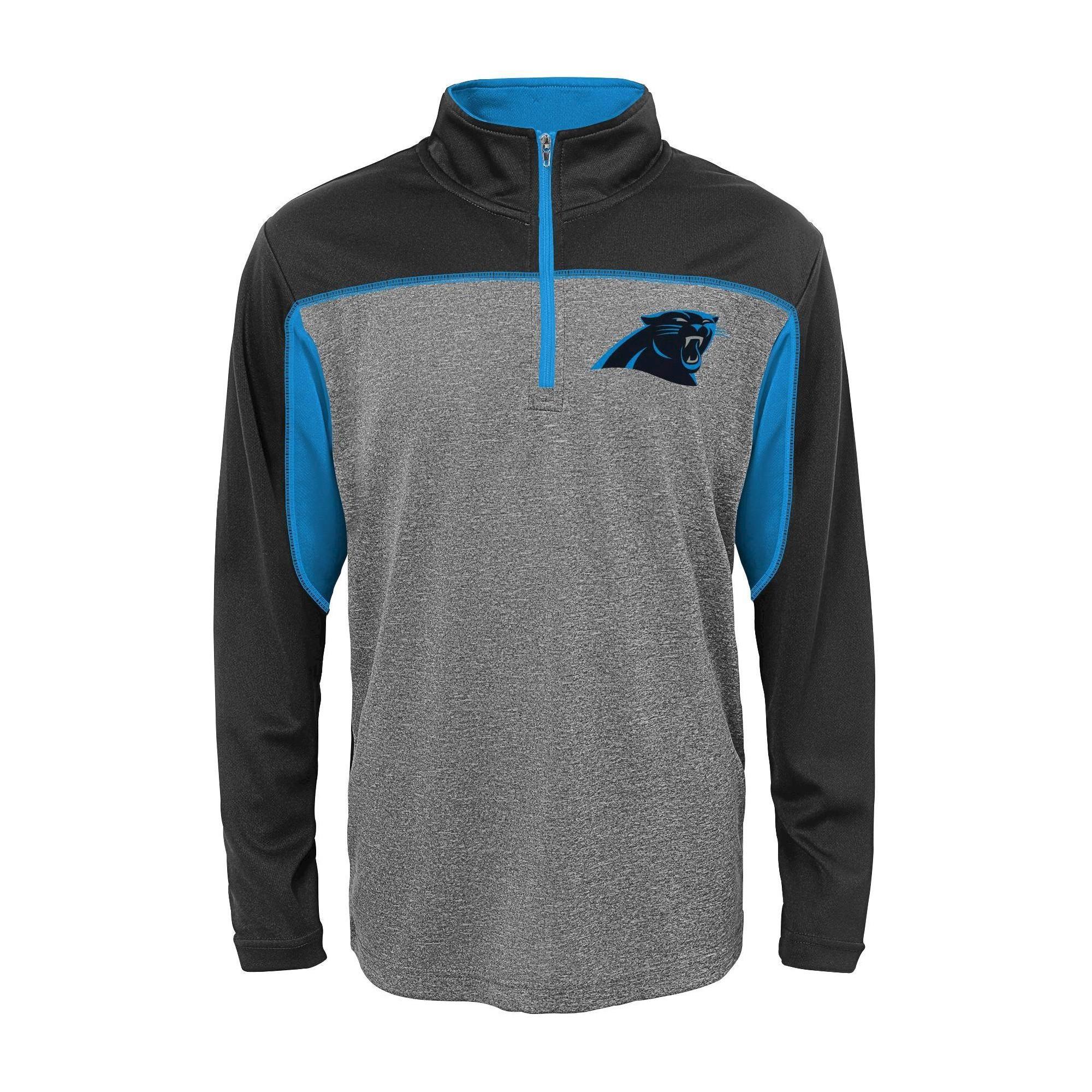 official photos 5e315 f15d6 Carolina Panthers Boys' Quarter Zip-Up Sweatshirt M, Boy's ...