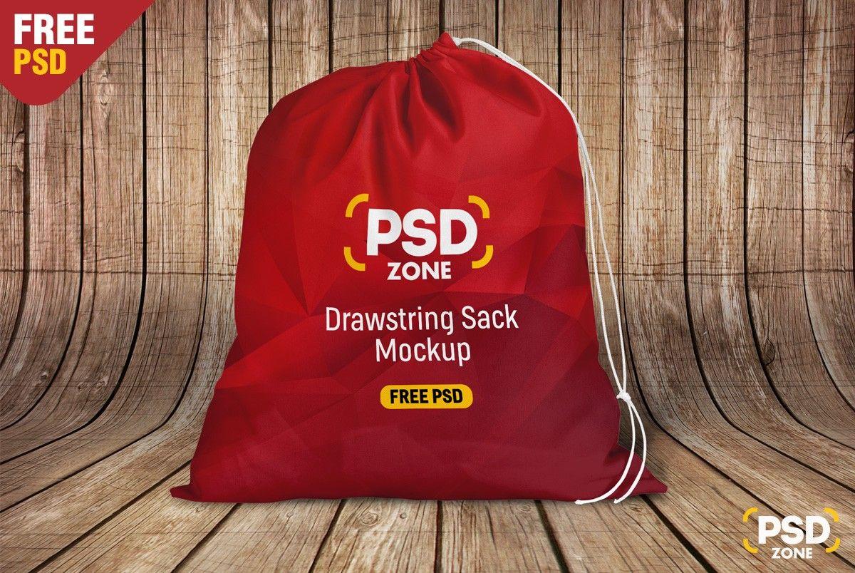 Download Free Santa Sack Bag Mockup Psd Mockup Free Psd Bag Mockup Free Mockup