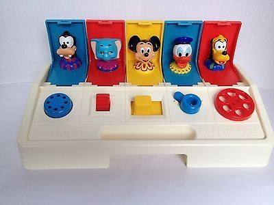 Playskool Poppin Pals Disney Characters 1980 Baby Toddler Toy Dumbo Mickey Pluto