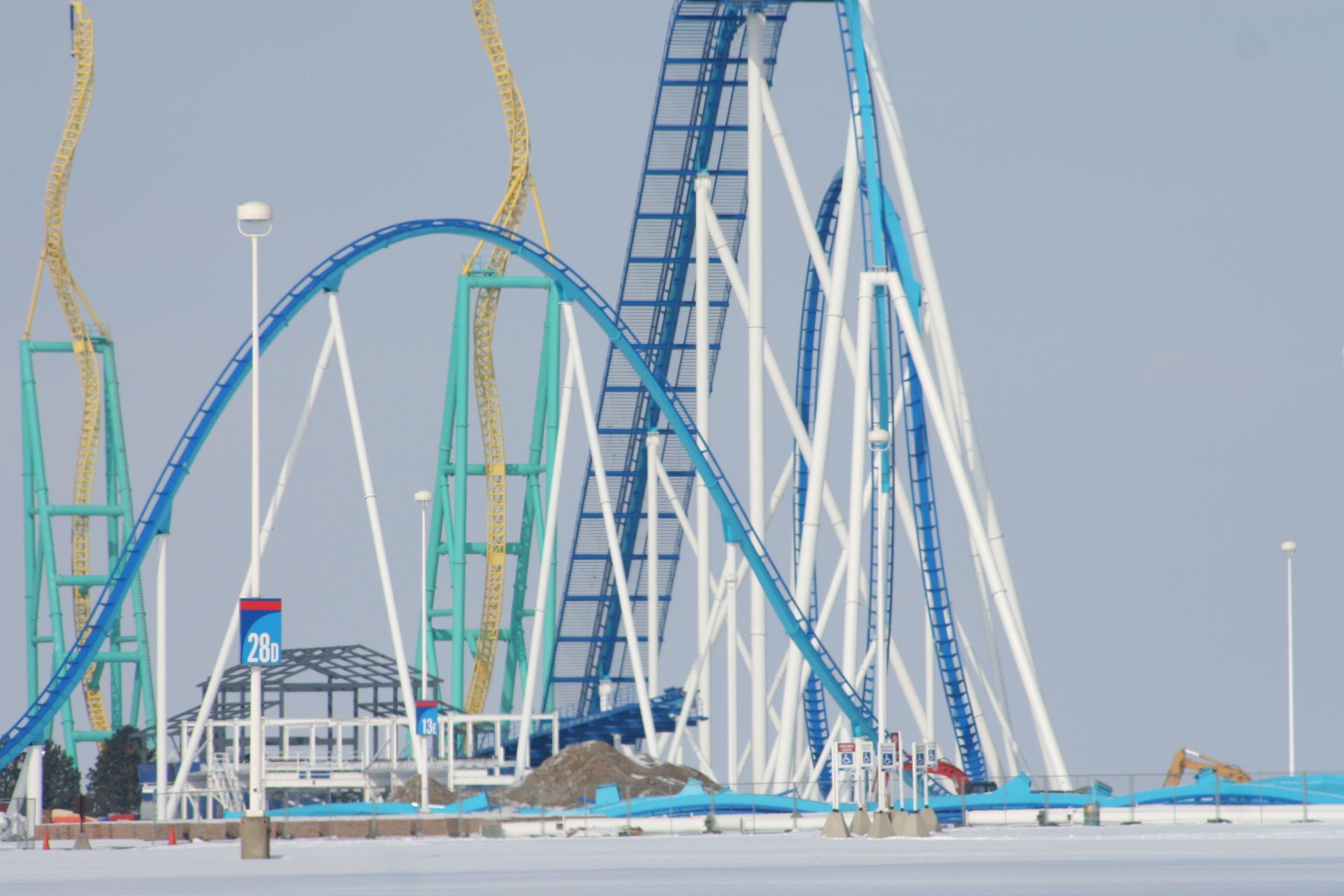 #GateKeeper construction at Cedar Point - Sandusky, Ohio.