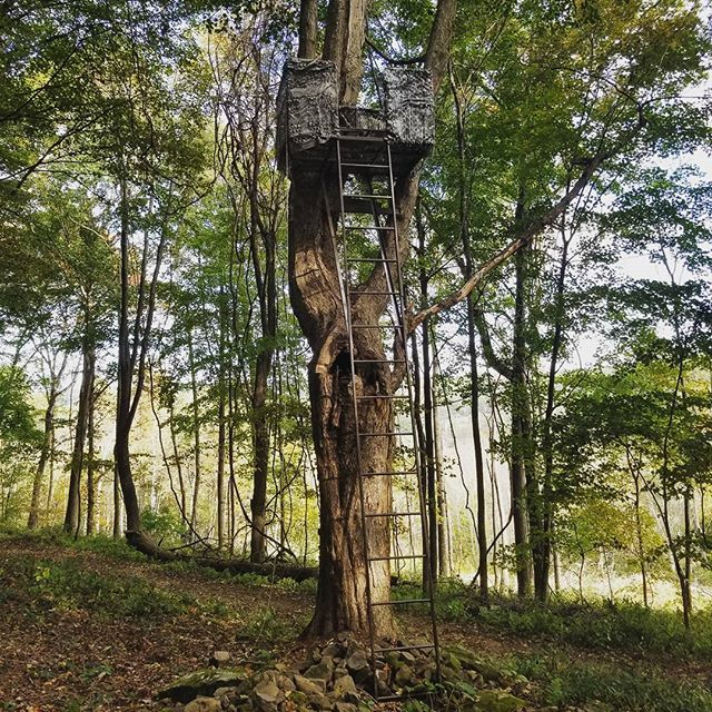 Custom built treestands make hunting comfortable and safe! You can say we are a little obsessed! #customfabrication #custom #hunting #outdoors #bbd #bigbuckdown #mossyoak #realtree #bowseason #whitetaildeer #deerhunter #whitetailsunlimited #hoyt #mathews #browning #remington #steel #camo #powdercoat #neo #northeastohio #ohio #cleveland #akron #welding  #mmcertifiedwelding #safe #comfort